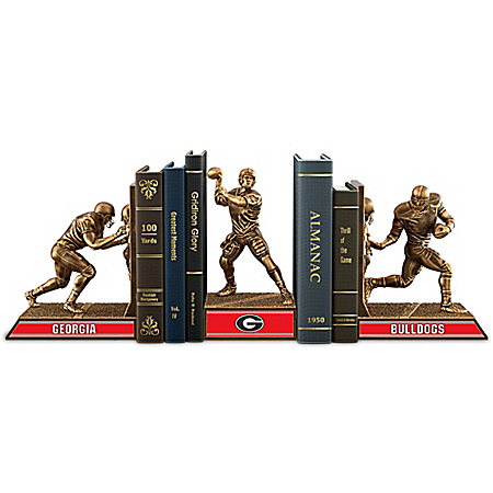 Georgia Bulldogs Football Cold-Cast Bronze Legacy Bookends Collection