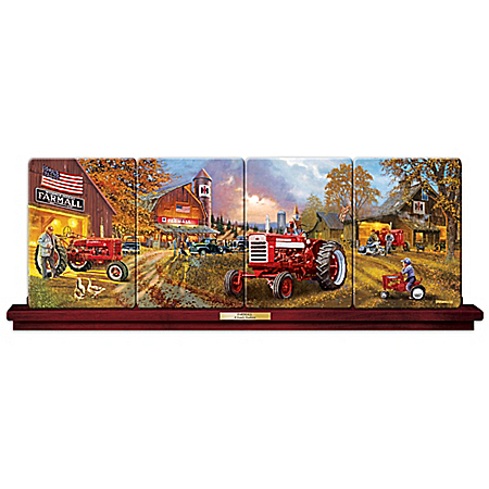 Farmall Panorama Plate Collection with Dave Barnhouse Art and Free Display