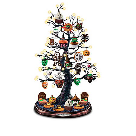 Trick Or Treat Halloween Tabletop Illuminated Tree Collection