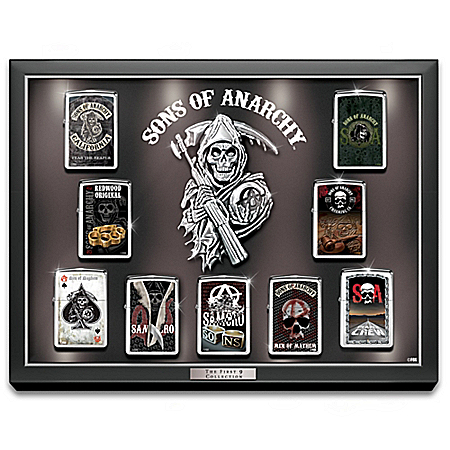 Sons of Anarchy First 9 Zippo Windproof Lighter Collection with Custom Display