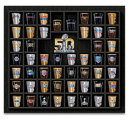 Super Bowl Commemorative NFL Shot Glass Collection