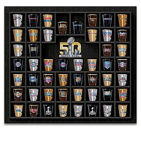 Super Bowl Commemorative NFL Shot Glass Collection