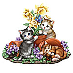 Seasons In The Garden Hand-Painted Cat Sculpture Collection