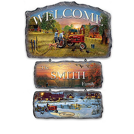 Farmall Traditions Personalized Tractor Welcome Sign Collection