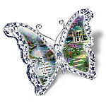 Thomas Kinkade Gardens Of Paradise Crystalline Butterfly Sculpture Collection