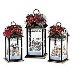 Thomas Kinkade Sparkle Of The Season Lantern Table Centerpiece Collection