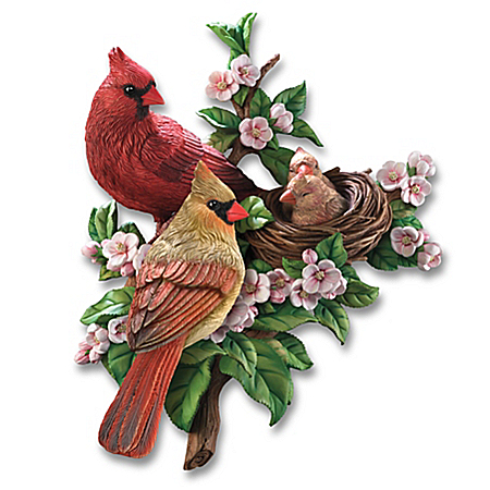 Garden Birds Spring Awakenings Wall Decor Sculpture Collection