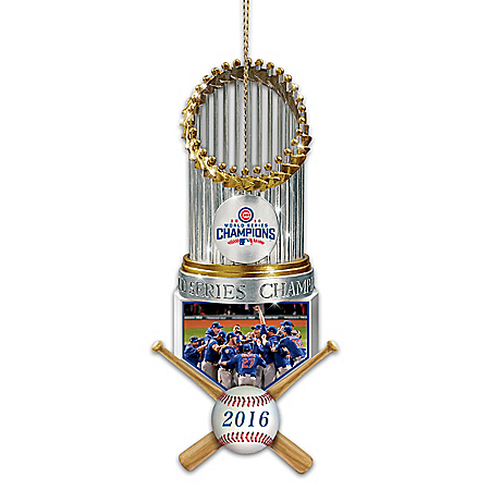 MLB-Licensed Chicago Cubs World Series Ornament Collection