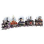 Handcrafted Disney Tim Burton's The Nightmare Before Christmas Glitter Globe Train Collection