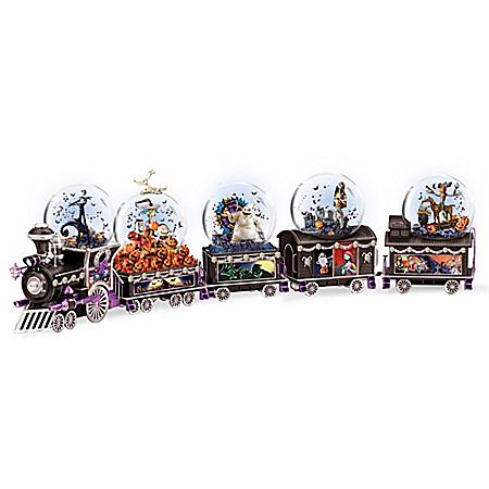Disney Tim Burton's The Nightmare Before Christmas Musical Glitter Globe Train