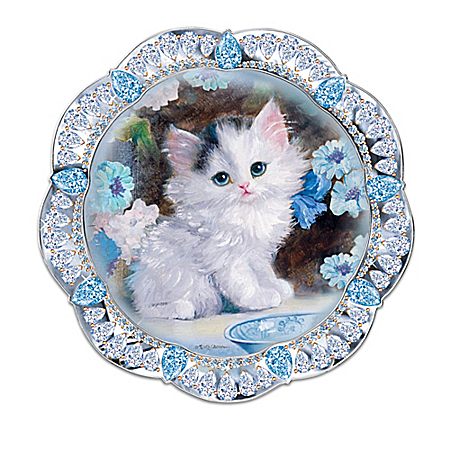 Purr-fect Jewels Heirloom Porcelain Collector Plate Collection
