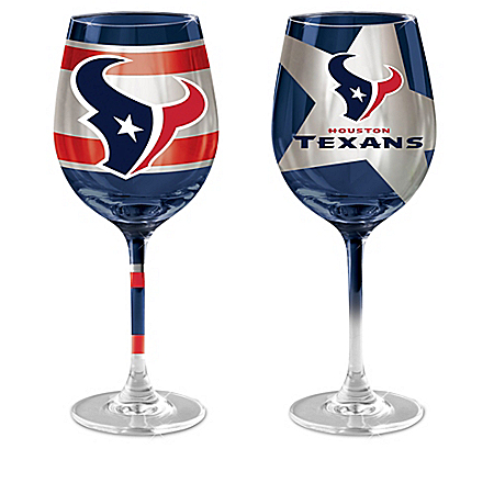 Houston Texans 14-Ounce Wine Glass Collection