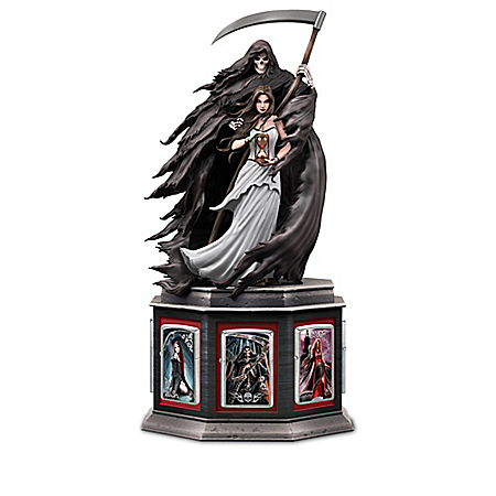 Anne Stokes Zippo Lighter Collection with Grim Reaper Display: Bradford Exchange