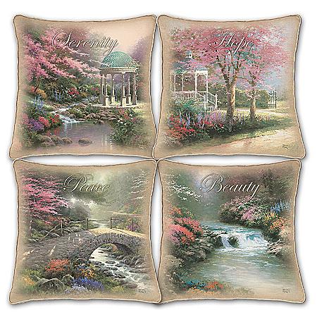 Thomas Kinkade Celebrate The Season Decorative Pillow Collection