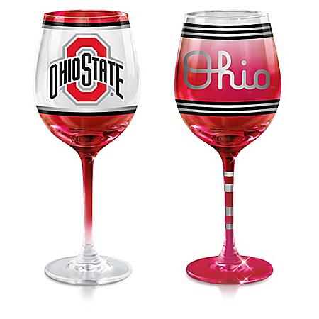 Ohio State University Buckeyes Wine Glass Collection