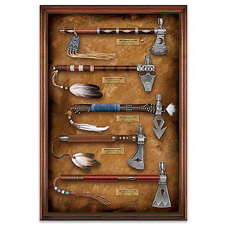 Native American-Inspired Historic Pipe Tomahawk Wall Decor Collection