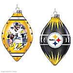 Pittsburgh Steelers Heirloom Glass Ornament Collection
