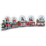 Rudolph The Red-Nosed Reindeer Holiday Express Musical Snowglobe Collection