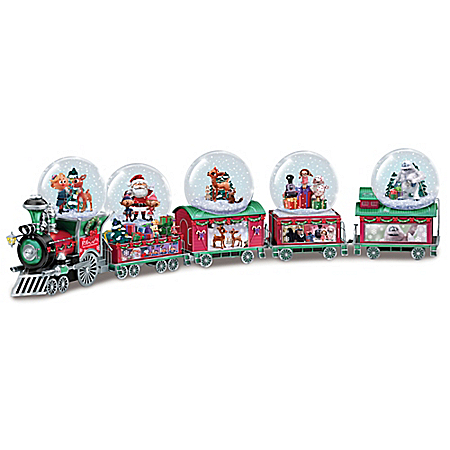 Rudolph The Red-Nosed Reindeer Holiday Express Mini Musical Snowglobe Collection