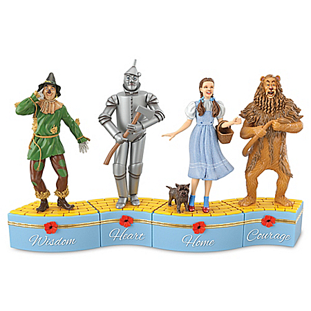 THE WIZARD OF OZ We're Off To See The Wizard Porcelain Music Box Collection