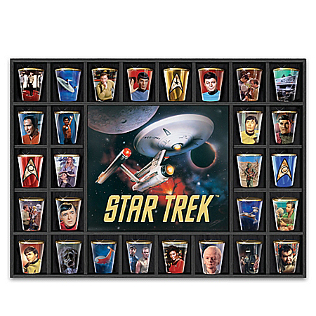 Salute The Enterprise STAR TREK Shot Glass Collection