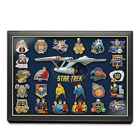 STAR TREK 24K Gold-Plated Pin Collection