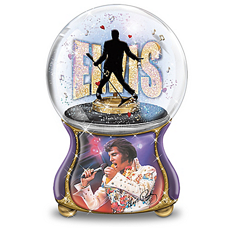 Elvis Presley: Burning Love Musical Glitter Globe Collection
