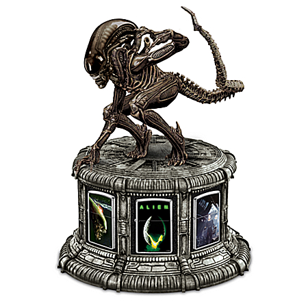 Alien Zippo® Lighter Collection; Xenomorph Display: Bradford Exchange