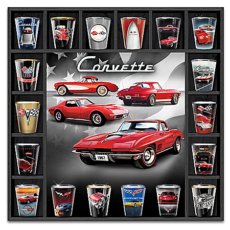 Chevrolet Corvette: All-American Excellence Small Glass Collection
