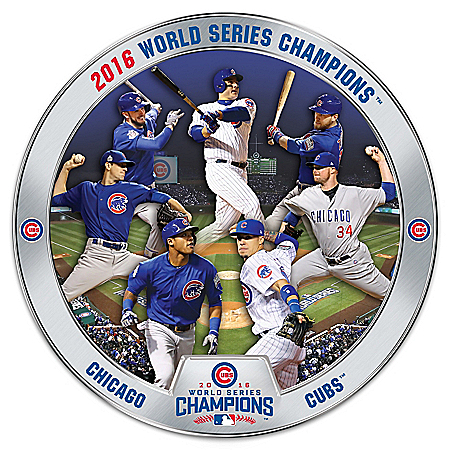 2016 World Series Champions Chicago Cubs Commemorative Collector Plate Collection