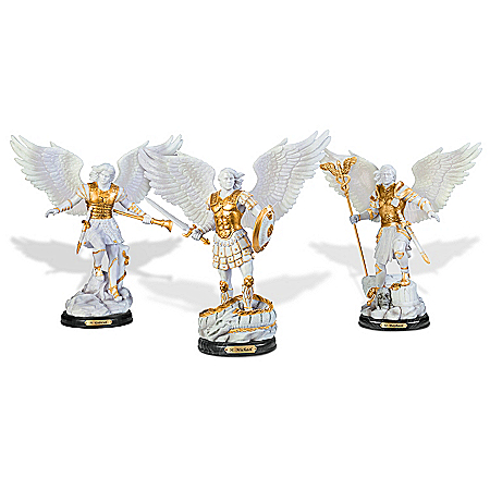 Archangel Holy Protectors Cold Cast Marble Sculptures from The Bradford Exchange