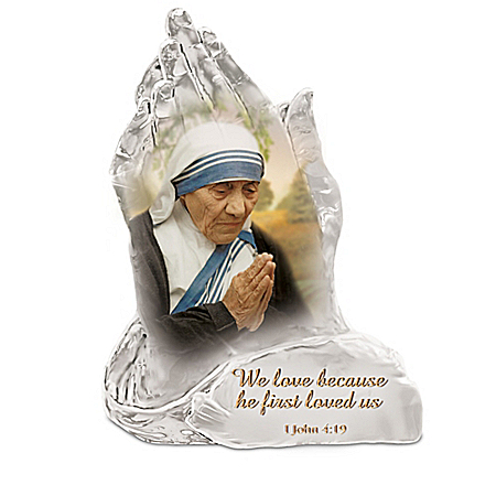Saint Mother Teresa Of Calcutta Prayers Of Hope Crystalline Sculpture Collection