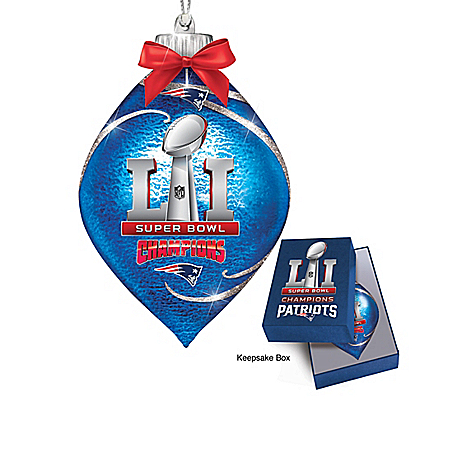 New England Patriots NFL Super Bowl Ornament Collection