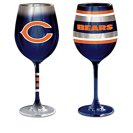 Chicago Bears NFL Wine Glass Collection