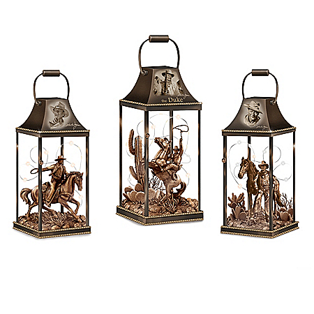 The John Wayne: Hollywood Luminary Fully-Sculpted Lantern Collection