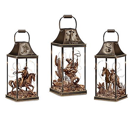 The John Wayne: Hollywood Luminary Fully-Sculpted Lantern Collection