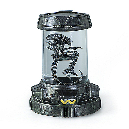 Aliens Xenomorph Containment Capsule Handcrafted Sculpture Collection Lights Up