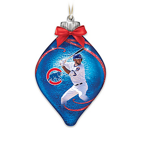 Chicago Cubs MLB Illuminated Christmas Ornament Collection