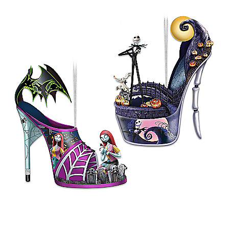 Disney Tim Burton's The Nightmare Before Christmas Shoe Ornament Collection
