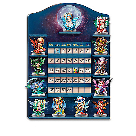 Jasmine Becket Griffith Sculptural Fairy Perpetual Calendar Collection