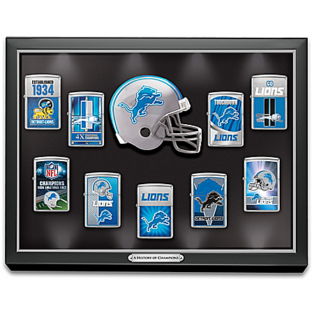 Legendary Detroit Lions NFL Zippo® Lighter Collection
