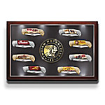 Indian Motorcycle Legacy Folding Knife Collection With Custom Illuminated Display Case
