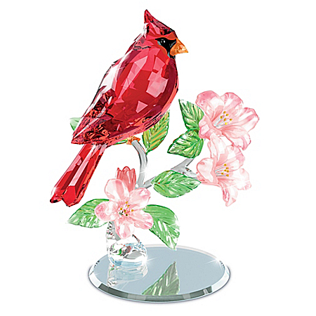 Nature's Sparkling Songbirds Faceted Crystal Sculpture Collection