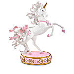 Pink Is For Hope Breast Cancer Charity Collectible Unicorn Figurine Collection