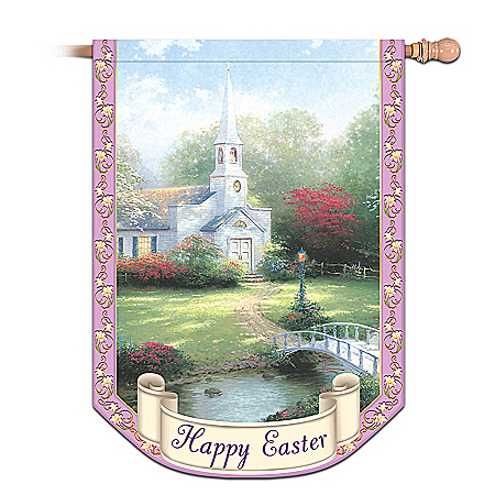 Thomas Kinkade Year of Glad Tidings Decorative Flag Collection