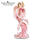 Thomas Kinkade Messengers From Above Breast Cancer Charity Angel Figurine Collection