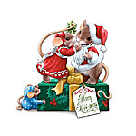 Charming Tails Of Christmas Cheer Collectible Mouse Figurine Collection