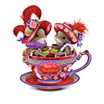 Charming Tails Friendship Is Tea-rrific Mice Wearing Red Hats Figurine Collection