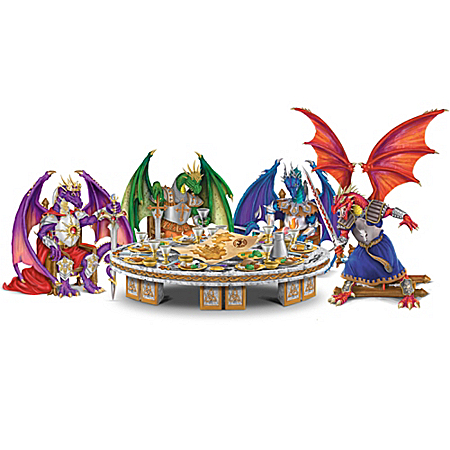 Knights Of The Dragons' Round Table Figurine Collection: Collectible Dragon Figurines