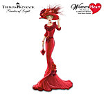 Thomas Kinkade Passion For Red Heart Health Awareness Figurine Collection